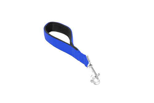 NYLON SHORT LEAD DOUBLE 30cm/25mm dark blue