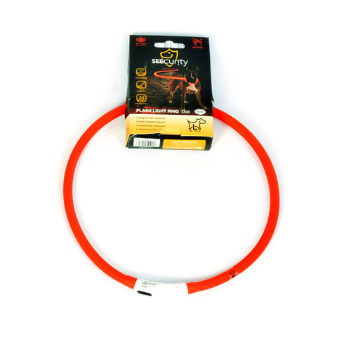 SEECURITY RING FLASH LIGHT USB SILICON 70cm red