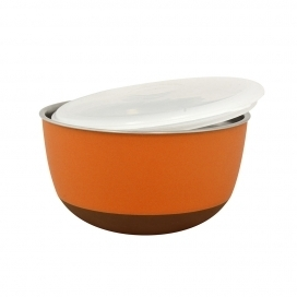 DINNER TIME DT Feeding bowl with lid'Matte Balance' Ø 21 - 2300ML orange