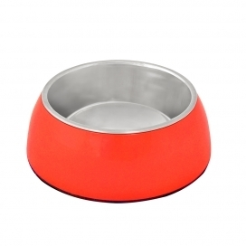 "DINNER TIME ""DT Feeding bowl + socket """" Glossy Uno"""""" Ø 13,2CM - MEDIUM red"