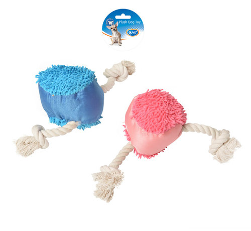 DOGTOY PLUSH PUPPY TOY BALL 11,5x39CM blue/pink