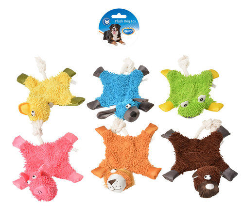 DOGTOY PLUSH FLAT ANIMAL 42x24CM mixed colors