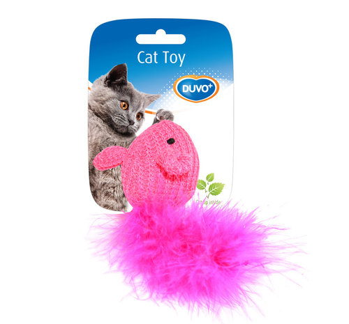 CATTOY ASSORTMENT OF MICE WOOL 10x6x4CM blue/pink
