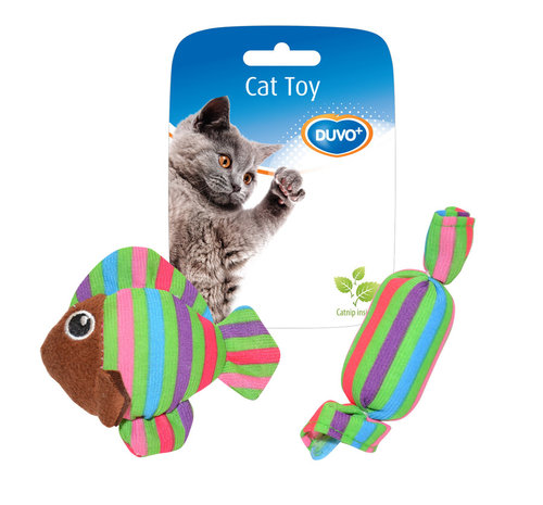 CATTOY ASSORTMENT FISH AND CANDY 8,5x8x2,8CM mixed colors