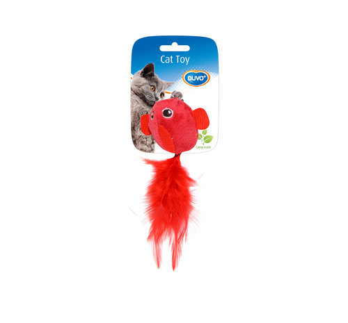 CATTOY ASSORTMENT BIRDS WITH FEATHER 2PCS 13x10x3,5CM red/purple
