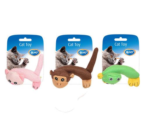 CATTOY ASSORTMENT ANIMALS BODY 12x10x5,5CM mixed colors