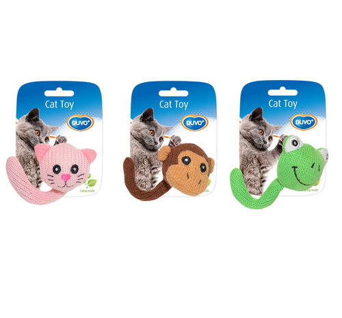CATTOY ASSORTMENT ANIMALS TAIL 13,5x5,5x4CM mixed colors