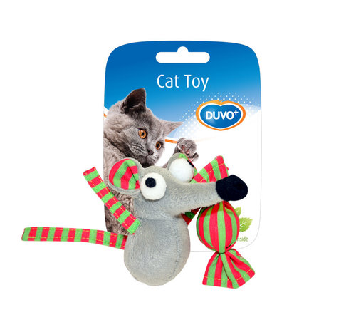 CATTOY ASSORTMENT MOUSE AND CANDY 7,5x7x3,5CM brown/grey