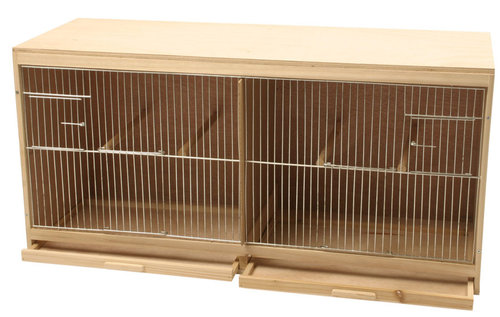 BREEDING CAGE WOOD 2-PARTS MOUNTED 80x30CM