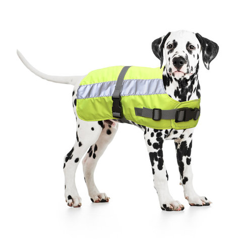 FLECTALON HI VIS DOG JACKET RUGLENGTE 50CM yellow
