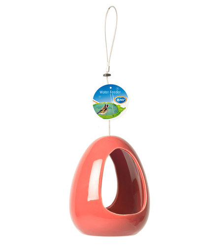 CERAMIC WATER FEEDER red