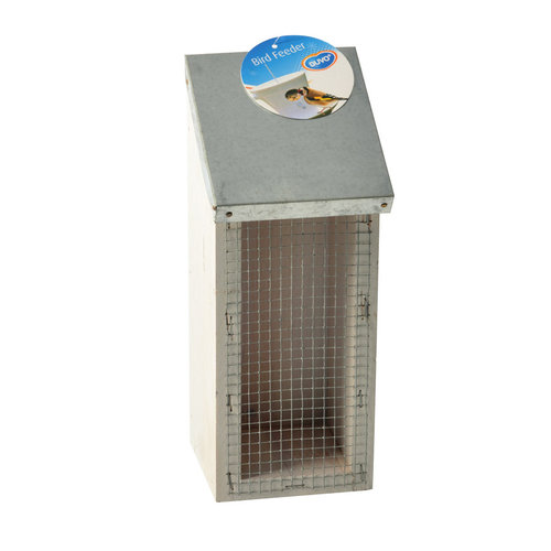 FOOD DISPENSER FOR PEANUTS GALVA ROOF 10x10x25CM white cottage