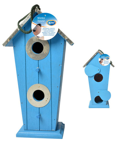 NEST BOX DUAL INPUT 4 COLOURS ASSORTED 17x11x32CM mixed colors