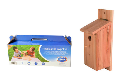 NEST BOX GREAT TIT KIT IN BOX 12,5x14,5x36CM brown