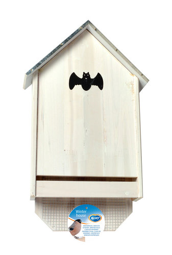 BAT BOX GALVA ROOF 30X10X50CM white cottage