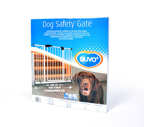 DOG SAFETY GATE 74(+2x14cm)x79CM white