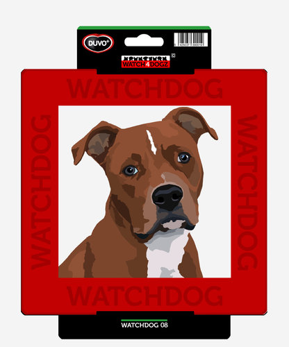 W4D SIGN STAFFORDSHIRE BULLTERRIER/AM PITBULL 22x22CM