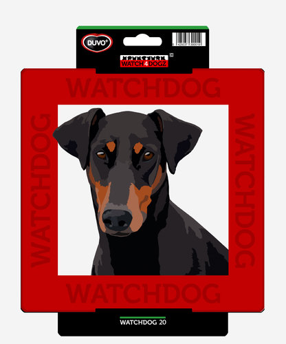 W4D SIGN DOBERMANN/GERMAN PINSCHER/BEAUCERON 22x22CM