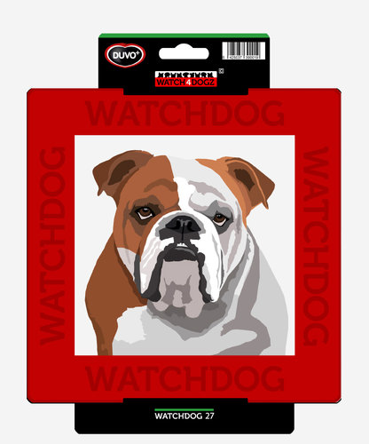 W4D SIGN ENGLISH BULLDOG 22x22CM