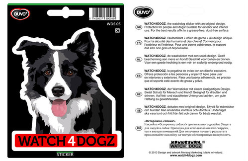 W4D STICKER BORDER COLLIE/AUSTRALIAN SHEPHERD 15,2x11CM