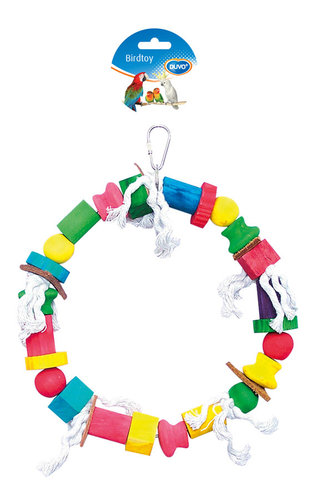 BIRDTOY Rope ring with colorful cubes 30CM