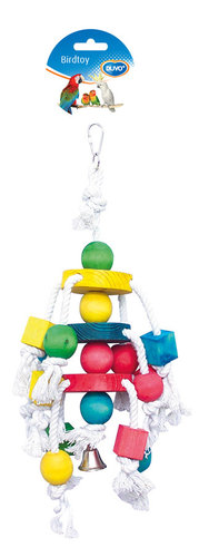BIRDTOY Cluster Rope with colorful cubes 35CM