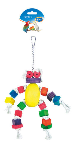 BIRDTOY Coton doll with colorful cubes 33CM