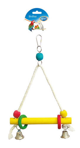 BIRDTOY CAGE ACC SWING IN ROPE WOODEN CUBES 2,6CM Ø - 20x30CM