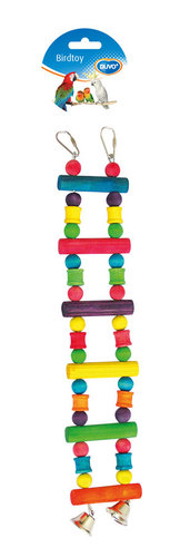 BIRDTOY Colorful wooden ladder with bell 35CM