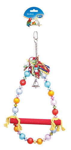 BIRDTOY CAGE ACC SWING WITH BEADS 41CM