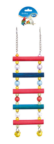 BIRDTOY CAGE ACC LADDER WITH BEADS 40CM
