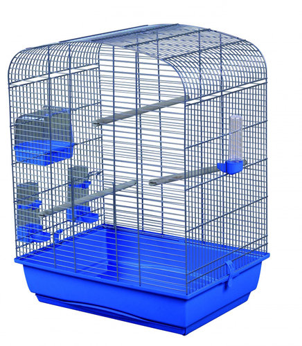 CAGE ELENA 54x39x71CM light blue/silver