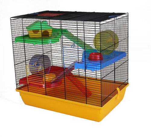 CAGE TEDDY 2 GIGANT 58x38x55CM yellow/black