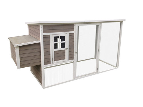WOODLAND CHICKEN COOP MOLLY COTTAGE 250x99x127CM taupe