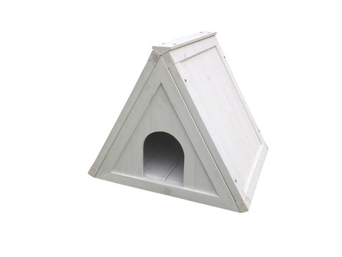 WOODLAND SHELTER TRIANGLE COTTAGE 50x42x42CM white