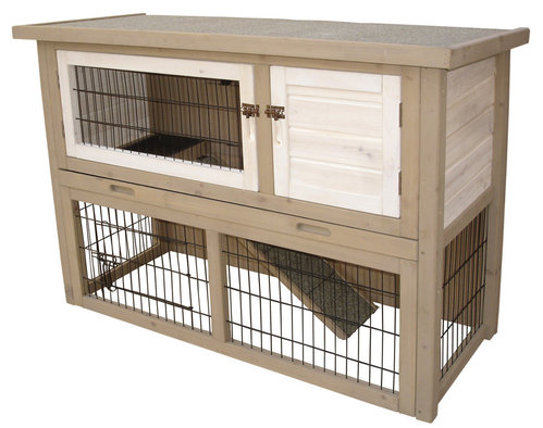 WOODLAND RABBIT HUTCH COTTON COTTAGE 111x45x78CM
