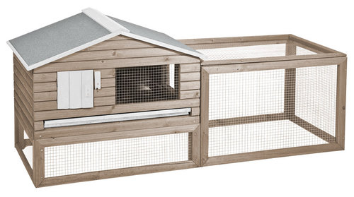 WOODLAND RABBIT HUTCH SNOOZER COTTAGE 158x61x75CM