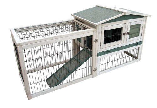 WOODLAND RABBIT HUTCH LAMBERT COTTAGE 155x53x70CM