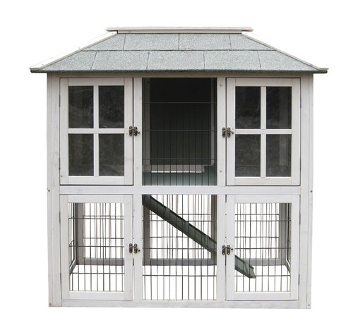 WOODLAND RABBIT HUTCH MUMFORD WHITE COTTAGE 121X64X121CM
