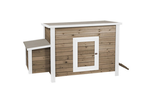WOODLAND CHICKEN COOP LIFE TIME 2 COTTAGE 130x65x82CM