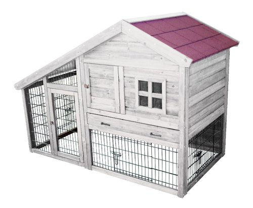 WOODLAND RABBIT HUTCH TRIDOLF COTTAGE 150x80x108CM
