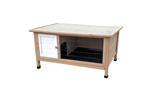 WOODLAND RABBIT HUTCH CLASSIC 4 COTTAGE 116x63x61CM taupe