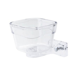 PARROT FOOD TRAY LOCK SMALL 9x9x6,5CM transparent