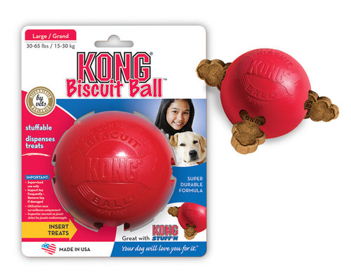 KONG BISCUIT BALL L red