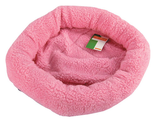 SHEEPSKIN BED OVAL 40x45CM pink
