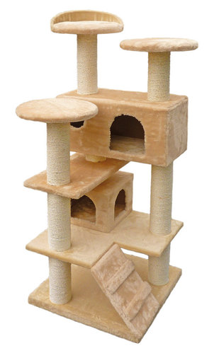 SCRATCHING POST NEW YORK BEIGE 50x50x130CM beige