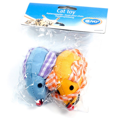 CATTOY TWILL MOUSE 2PCS