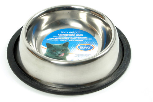 INOX ANTI-SLIP FEEDING BOWL 155ML FOR CATS 16