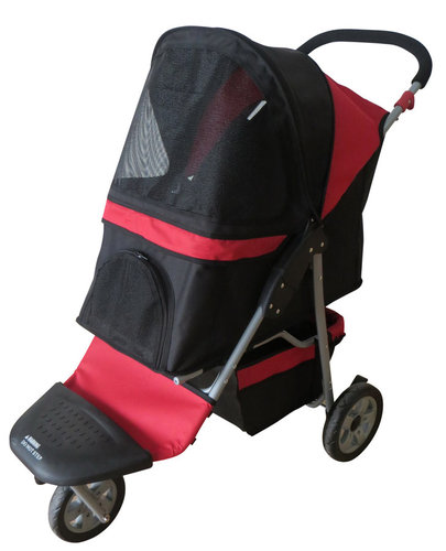 PET BUGGY 87,5x51,5x110CM black/red