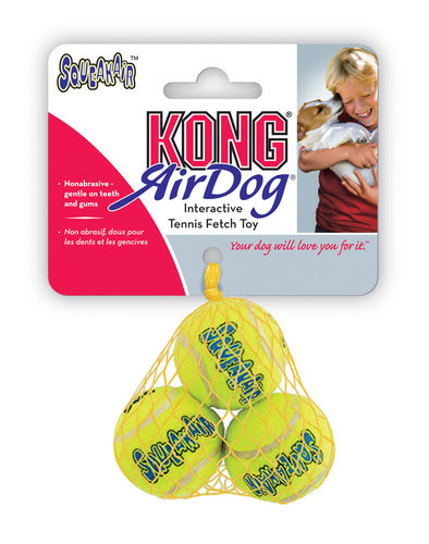 KONG AIR SQUEAKAIR TENNIS BALL 3PCS M yellow